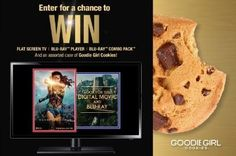 MOVIE SNACKIN' Enter for A Chance To Win a Flat Screen TV | Blu-ray™ Player | Wonder Woman Blu-ray™ Combo Pack and an assorted case of Goodie Girl Cookies! Enter Today.