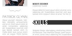 Resume... free-curriculum-vitae template-cv