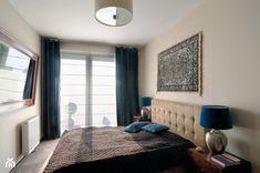 Mieszkanie Kraków - Średnia sypialnia małżeńska z balkonem / tarasem, styl kolonialny - zdjęcie od Coco design studio - homebook