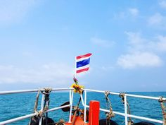 Wherever you go go with all your heart. On our way to Koh Larn Island Thailand Crossing Gulf of Thailand from Pattaya to the Island by boat  #travel #pattaya #kohlarn #island #thailand  #phuket #phiphiisland #krabi #sea #ocean #water #clearwater #nature #flag #boat #byboat #ferry #asiatrip #thailandtrip #canadian #bulgarian #instagood #instatravel #instaboat #enjoylife #behappy #quote #heart