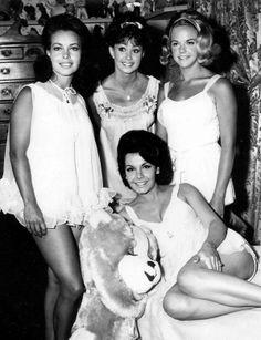 Pajama Party with Annette Funicello, Elsa Lancaster, Jody McCrea, Dorothy Lamour - 1964 . #vintage . #celebrities