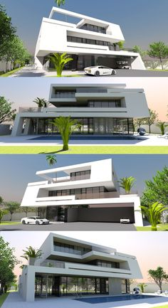 Stunning 6 bed / bath luxury home offers contemporary living over 3 storeys. Luxury Swimming Pools, Luxury Pools, Zen, 3 Storey House Design, Modern Bungalow House, Mediterranean Design, Contemporary House Plans, Unusual Homes, Facade House