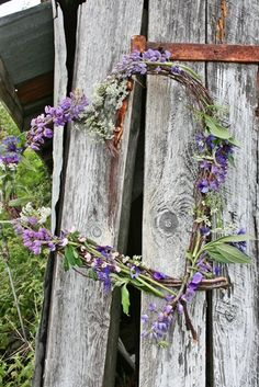 ♡ Lavender and flowers heart wreath