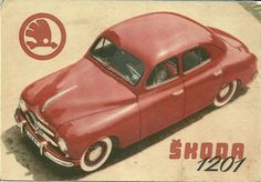 Fifties Skoda brochure in Spanish. Retro Cars, Vintage Cars, Antique Cars, Car Brochure, Car Posters, Pony Car, Car Advertising, Pedal Cars, Small Cars