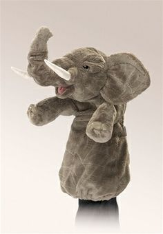 Elephant Stage Puppet by Folkmanis Puppets at www.stuffedsafari.com