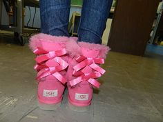 pink uggs!!!! freaking awesome