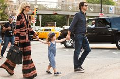 The NYFW Street-Style Looks That Truly Stunned #refinery29  http://www.refinery29.com/2014/09/73987/new-york-fashion-week-2014-street-style-photos#slide99  Rachel Zoe and the whole fam.