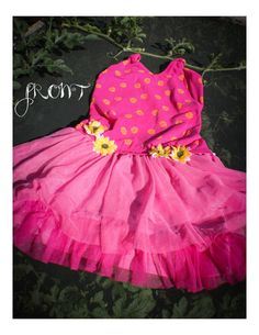 https://www.etsy.com/listing/203793600/pink-girls-ballerina-dress-one-of-a-kind?ref=related-6  Childrens size 5T pink dress. With layered ruffles and yellow flowers. The perfect dress for being a ballerina. Comfortable cotton top.