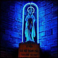 The neon Virgin of Saigon, by Darragh Mason Field.
