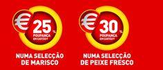 Promoções Intermarché - Numa Seleção de Marisco e Peixe Fresco - 24 e 30% desconto respectivamente