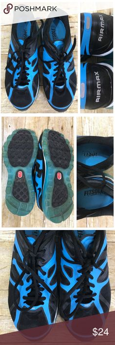 ⚡️Nike Air Max Fitsole 2 Running Shoe Size W 7.5 ⚡️SALE ⚡️Womens Nike Air Max Fitsole 2 Running Shoe Size 7.5 Medium Blue Black Very Good Used Condition Nike Shoes Athletic Shoes