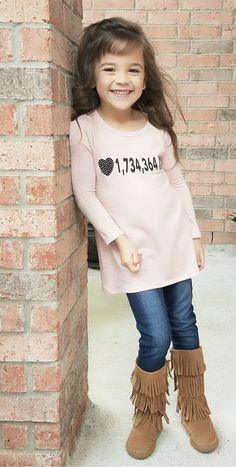 Little Girls Top, Spring Fashion,  Long Sleeved Top, Pink Top, Fashion, Ryleigh Rue, Kids Clothing, Online Shopping, Online Boutique, Boutique, Kids Fashion