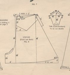 French knickers pattern (1920's)
