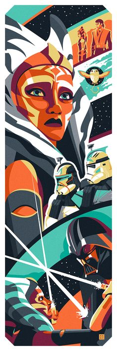 The Apprentice by Danny Haas. Fine art lithograph inspired by Star Wars: Rebels featuring Ahsoka Tano. Star Wars Rebels, Star Wars Clone Wars, Star Wars Pictures, Star Wars Images, Ahsoka Tano, Star Wars Fan Art, Ashoka Star Wars, Disneysea Tokyo, Anakin Vader