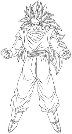 SSJ3 Goku Lineart by Arrancarippo on DeviantArt Goku Drawing, Ball Drawing, Dragon Ball Image, Dragon Ball Gt, Desenhos Clash Royale, Teddy Bear Coloring Pages, Dbz Drawings, Dream Art, Anime Sketch