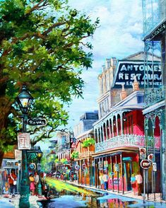 Antoine's Restaurant, French Quarter, New Orleans, Print or Canvas, New Orleans Restaurants and Food, New Orleans Art by New Orleans Artist