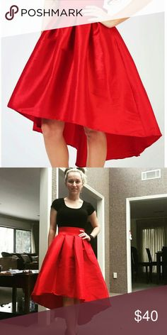 High Low Red Skirt High Low Red Skirt, size small, New With Tags. Best Cody Skirts High Low