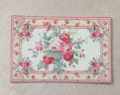 Romantic Shabby Chic Dollhouse Rug, Rose Garden, Scale One Inch