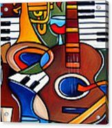 Pop Art Canvas Print featuring the painting Jam Session By Fidostudio by Tom Fedro - Fidostudio Body Painting Men, Glass Painting Patterns, Indian Traditional Paintings, Sexy Black Art, Pop Art Collage, Jazz Art, Thing 1, Canvas Material, Canvas Art Prints
