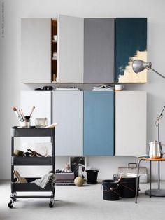 blue painting to hack ikea ivar furniture Raskog Ikea, Ivar Ikea Hack, Ikea Eket, Hacks Ikea, Diy Hacks, Ikea Inspiration, Interior Ikea, Interior Design, Diy Design