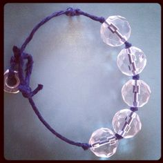Navy blue chord with hex nut closure