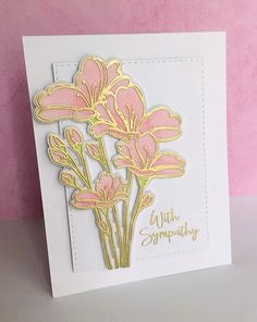 This last week, I had need of several sympathy cards.the hardest card to make or to send. I had been a part of yesterday's Simon Says . Making Greeting Cards, Card Companies, Embossed Cards, Handmade Birthday Cards, Cool Cards, Cards Diy, Simon Says Stamp, Sympathy Cards, Creative Cards