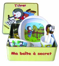 Plastorex - 70 9245 97 - Lot Vaisselle en Mélamine Sous Boite - Métallique - Décor T'choupi
