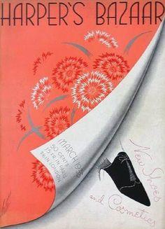 [1935] ERTÉ (1892-1990) 1º éxodo de Aportaciones europeas. 1924 a 1937 Diseña las portadas e ilustraciones de HARPER'S BAZAAR. _Principal representante del Art Decó en EEUU. _Dibujo estilizado. _Decoraciones exóticas.