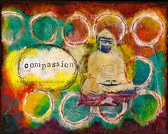Compassion  8x10 Mixed Media Art Print Home by KathleenTennant, $20.00