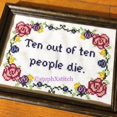 PATTERN Funny Subversive Cross Stitch Ten out of Ten People