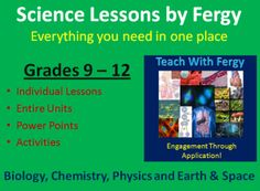 Science Lessons - Here you will find a collection of science lessons geared towards the high school curriculum. Includes grade 9-12 Biology, Chemistry, Physics and Earth/Space Science lessons