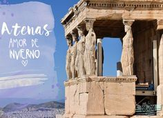 ATENAS, AMOR DE INVIERNO Mount Rushmore, Mountains, Nature, Travel, The World, Winter Time, Love, Athens, Temple