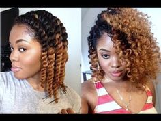 Twist out with color
