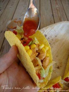 Ricetta tradizionale tacos con pollo messicani