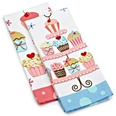 Even more cupcake dish towels!