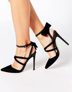 Buy ASOS PRIDE AND JOY Pointed High Heels at ASOS. Get the latest trends with ASOS now. Sexy High Heels, Beautiful High Heels, Lace Up Heels, Dress And Heels, Asos, Shoe Boots, Shoes Heels, Mode Shoes, Pumps