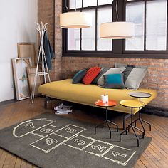 hopscotch rug in fifteen percent off select rugs sale | CB2