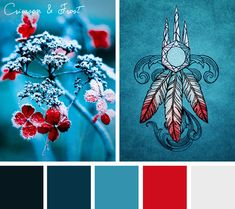 Add a touch of cool elegance with this Crimson and Frost color inspiration.