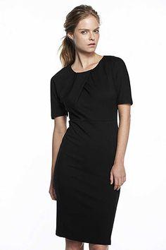 Velvet By Graham & Spencer, Daisy Pleat Neck Ponti Dress | $158