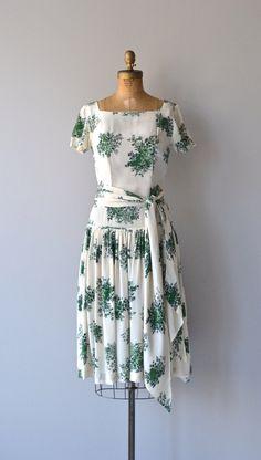 Bells of Ireland dress • vintage 1930s dress • silk floral 30s dress