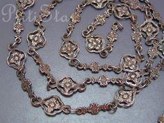 "Ornate Old Victorian Peruzzi Italian 800 Silver Chain Sautoir Necklace 34"" Long | eBay"