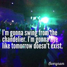 Chandelier - Sia... I\'m in love with this song and I have no clue ...