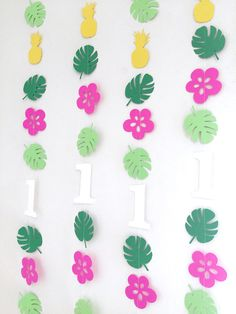 Moana inspired Birthday decorations 1st birthday garland