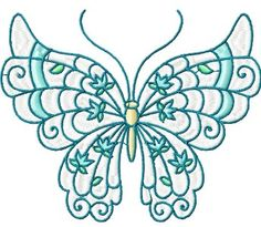 BUTTERFLIES PASTEL 10 MACHINE EMBROIDERY DESIGNS | eBay