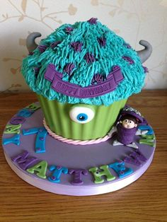 Monsters Inc Giant Cupcake