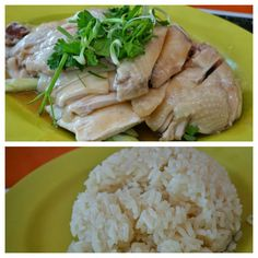 """One of Singapore's national dishes and beloved hawker dish. Arguably """"the best"""" Hainanese Chicken Rice is at Tian Tian. It's most famous for sure (especially after being on #Bourdain) and it was very good (even though quality was better before), but I did find better... an underrated little gem... posting where soon! #FMFinSingapore #Singapore Hainanese Chicken, National Dish, Chicken Rice, Quick Meals, The Best, Singapore, Gem, Pork, Dishes"""