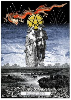 Page of Coins - Arthur Taussig Collage Tarot