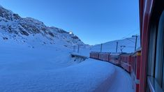 Riding the Bernina Express Train in Switzerland – SWITZERLAND Bernina Express, Switzerland, Mount Everest, Travel Inspiration, Train, Mountains, Nature, Outdoor, Outdoors