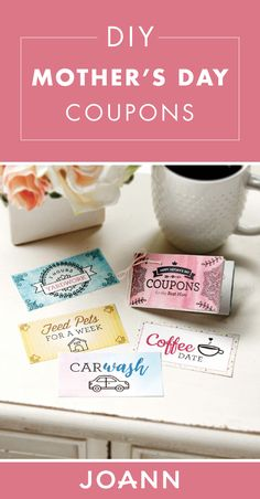 If your mom's love language is acts of service—this may just be the ideal Mother's Day present to gift her! Check out these Printable Mother's Day Coupons to learn more. Mother's Day Coupons, Mother's Day Projects, Mother's Day Diy, Love Languages, Joanns Fabric And Crafts, Best Mom, Step By Step Instructions, Mother Day Gifts, Craft Stores