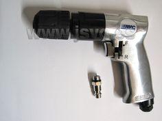 Taladro reversible neumático ABAC 8973005901 con portabrocas de auto-apriete. Diámetro máximo de apertura: Ø10mm Caudal: 130 l/min Presión: 6 bar (87 psi) #herramientas #bricolaje www.jsvo.es
